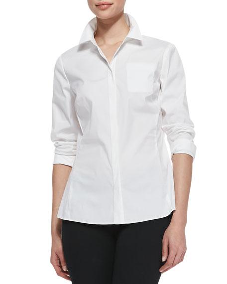 Rowley Long-Sleeve Blouse, White