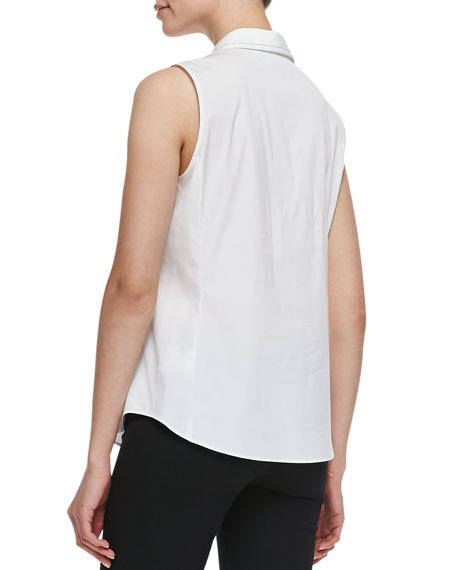 Charelle Sleeveless Blouse, White