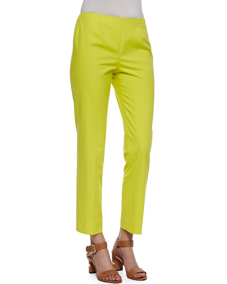 Metro Stretch Bleecker Cropped Pants, Parakeet