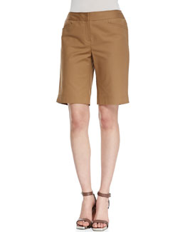 Lafayette 148 New York Metro Stretch Bermuda Shorts, Chai