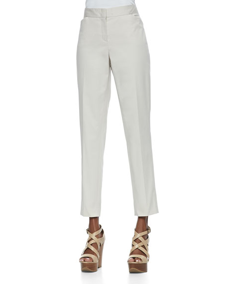 Downtown Cropped Pants, Raffia