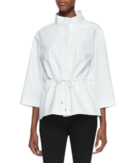 Lafayette 148 New York Metro Drawstring Topper Jacket