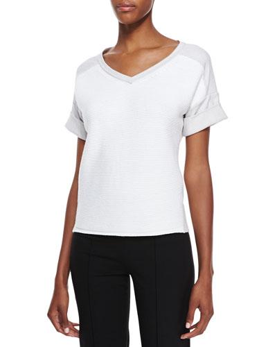 Lafayette 148 New York Short-Sleeve Sweatshirt