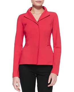 Lafayette 148 New York Zena Fundamental Bi-Stretch Jacket, Dynamite