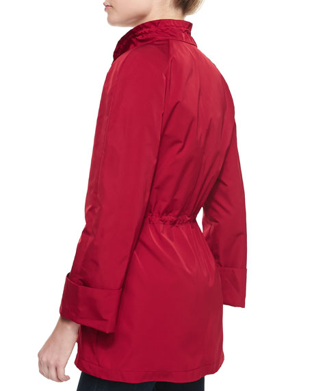 Brandy Zip Front Topper Jacket With Drawstring Waist, Snapdragon