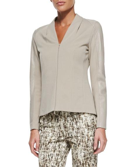 Farro Punto Milano Zip-Front Jacket