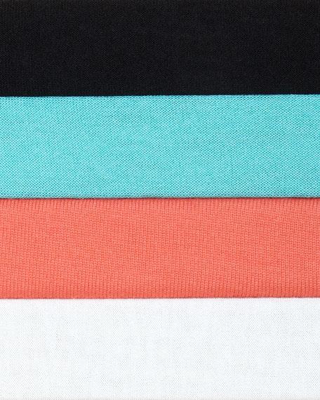 Silk-Wool Pleat-Back Cardigan