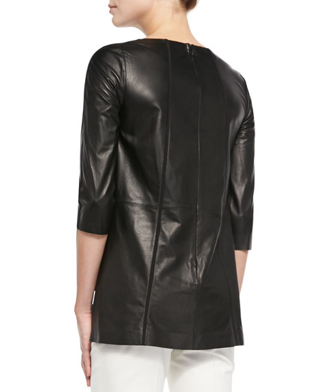 Tissue-Weight Leather Top