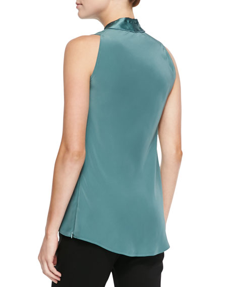 Hope Silk Sleeveless V-Neck Blouse