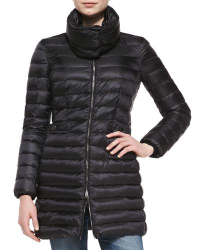 Moncler Vanne Mock-Neck Puffer Coat, Black
