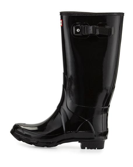 Hunter Boot Huntress Gloss Welly, Black