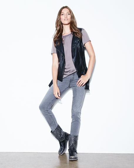 Jenna Disc Short Motorcycle Boot