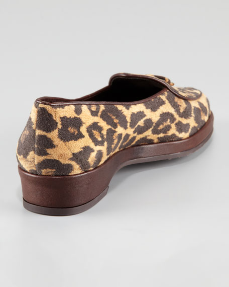 Creampuf Leopard-Print Ultrasuede Loafer