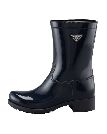 Rubber Rain Boot, Black