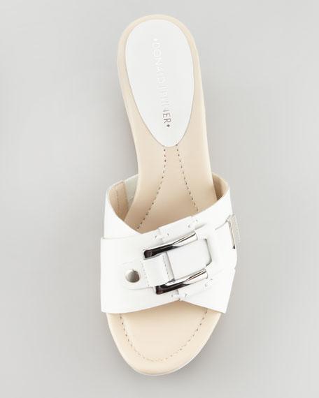 Loyal Crisscross Wedge Slide, White