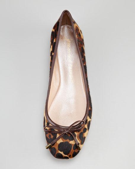 Rikita Leopard-Print Ballerina Flat