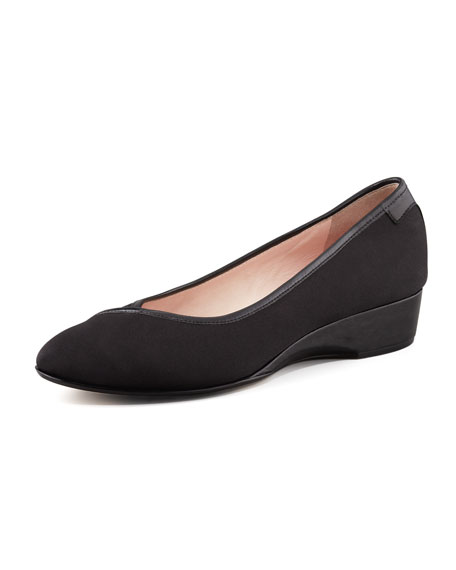Taryn Rose Felicity Stretch Fabric Low-Wedge Shoe
