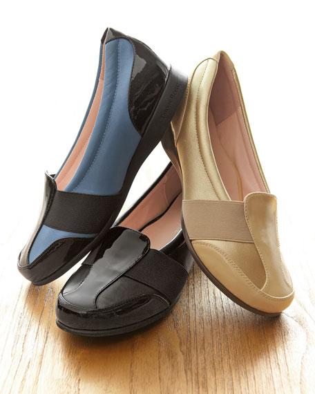 Taurus Flat Slip-On Sport Loafer, Black