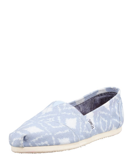 Ikat Slip-On Shoe, Blue/White