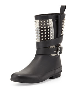 Burberry Rubber Studded-Shaft Short Rainboot