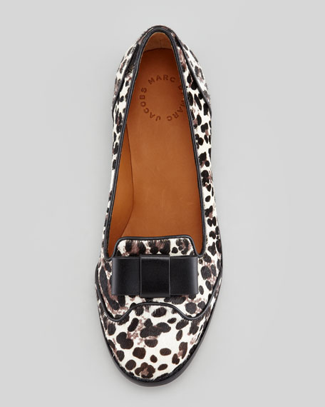 Leopard-Print Layered Bow Loafer