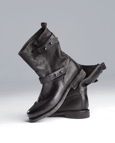 Moto Leather Boot, Black