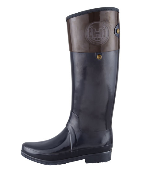 Sandhurst Carlyle Riding Boot, Navy/Chocolate
