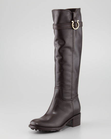 Robespierre Gancini Riding Boot, Chocolate