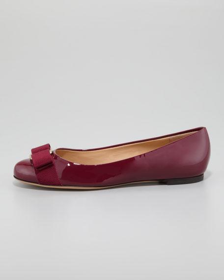 Varina Bow-Toe Ballerina Flat, Corniola