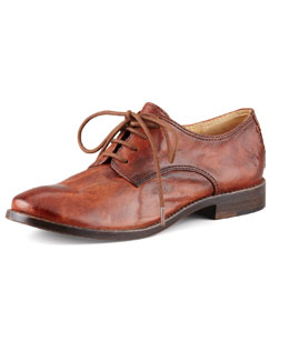 Frye Anna Leather Oxford, Cognac