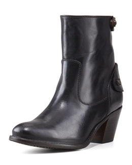 Frye Jackie Short Snap-Zip Boot