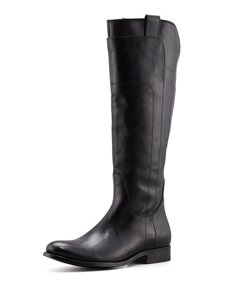 Frye Melissa Tall Leather Riding Boot, Black