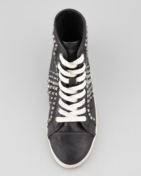 Kira Biker High-Top Sneaker, Black