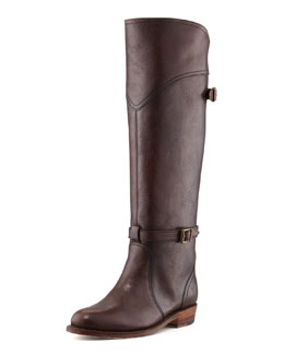 Frye Dorado Leather Riding Boot, Dark Brown