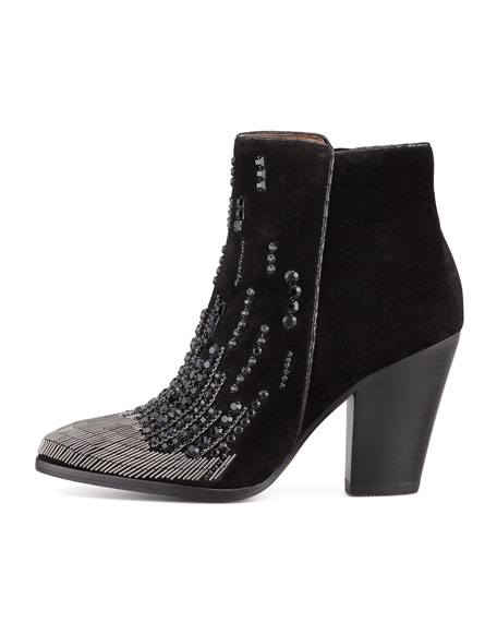 Swift Embroidered Suede Bootie
