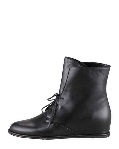 Stepmistress Hidden Wedge Lace-Up Bootie