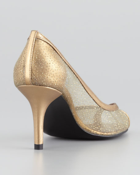 Laceola Mesh and Sparkle Pump
