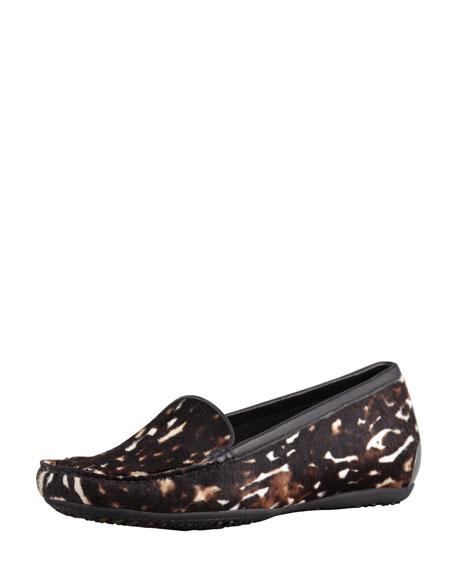 Mach 3 Animal-Print Calf Hair Loafer