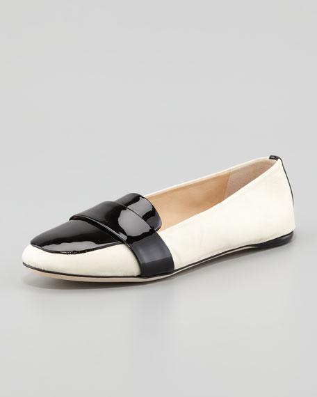 Patent-Grosgrain Banded Loafer