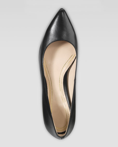 Chelsea Pointed Toe Low Pump, Black