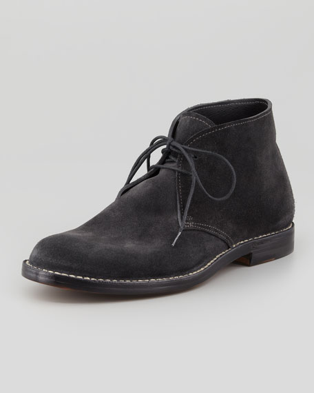 Suede Lace-Up Ankle Boot