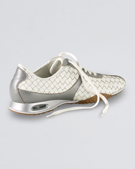 Air Bria Woven Oxford, White/Silver