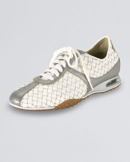 Cole Haan Air Bria Woven Oxford, White/Silver