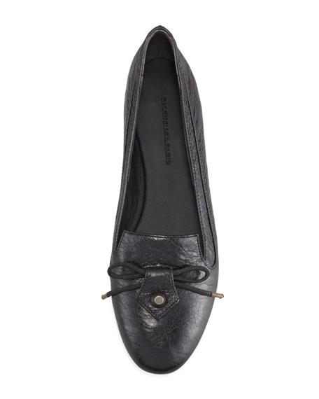 Arena Leather Smoking Slipper, Black