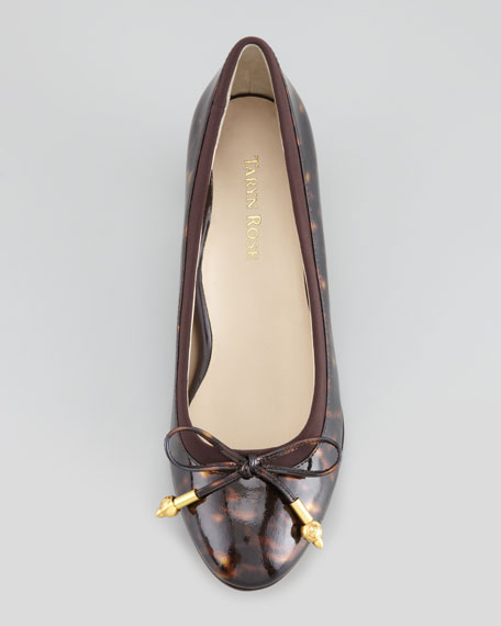 Fairlawn Patent Leather Bow Pump, Tortoise