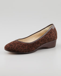 Taryn Rose Felicity Leopard-Print Low-Wedge