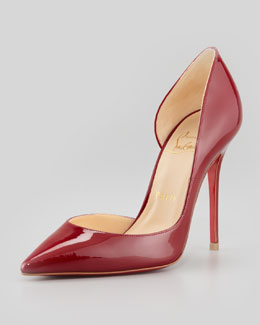 Christian Louboutin Iriza Pointed-Toe d'Orsay Red Sole Pump, Rouge