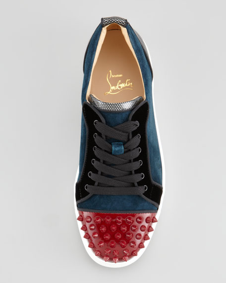 217a8a59c792d Christian Louboutin Louis Junior Spikes Low-Top Sneaker