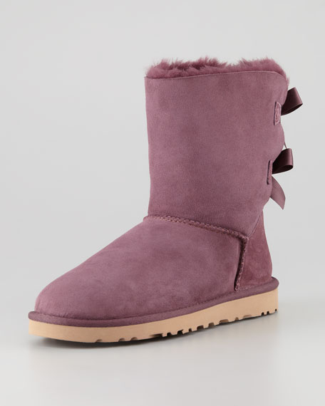Bailey Bow-Back Short Boot, Bordeaux