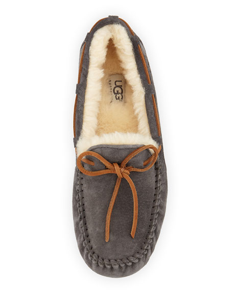 Dakota Wool-Lined Tie-Slipper, Pewter